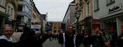 Flashmob: Gegen den Backlash GRÜNE Düsseldorf