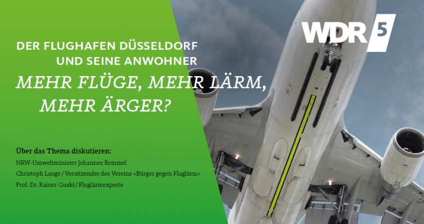 WDR5 Stadtgespräch Kapazitätserweiterung Flughafen Düsseldorf