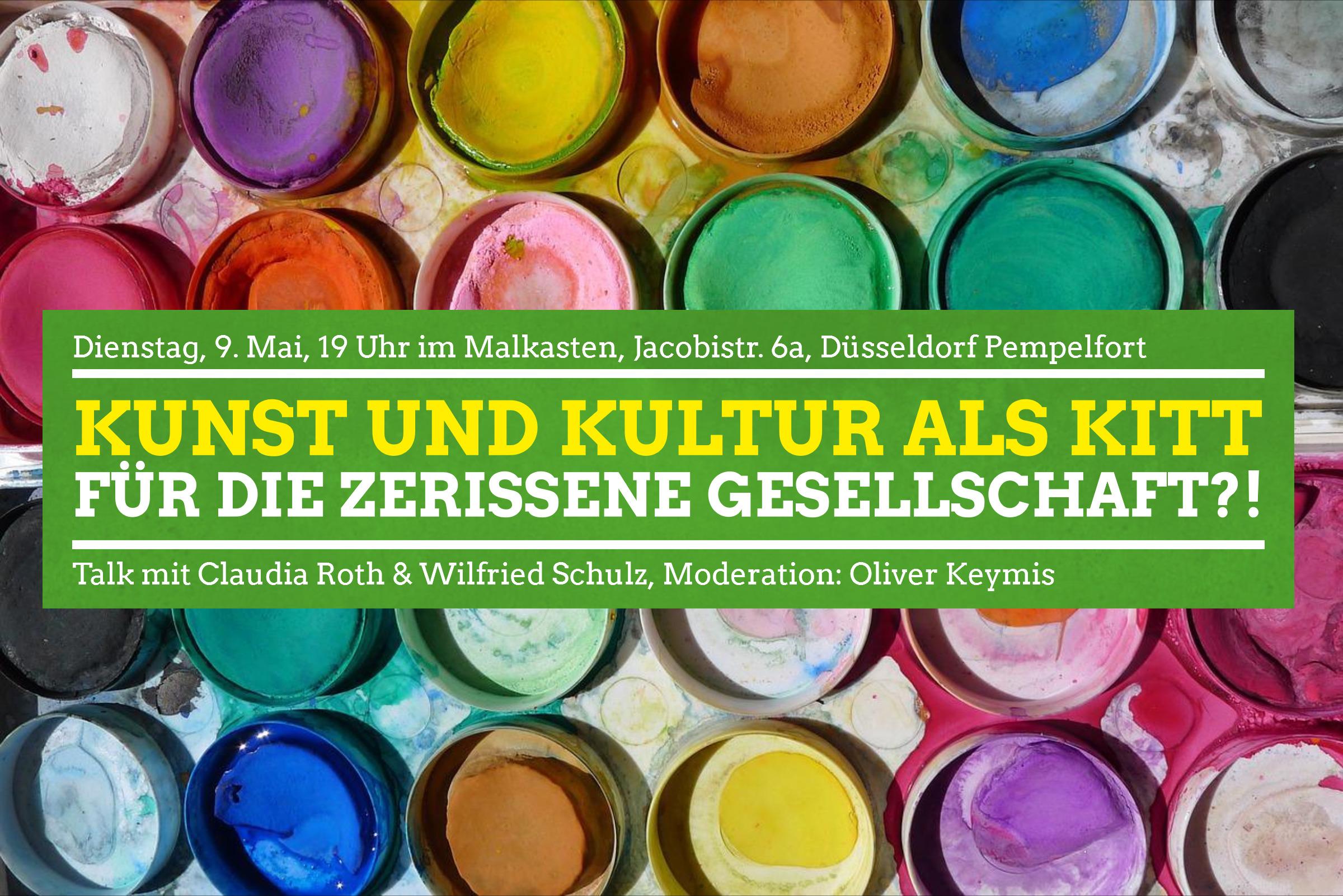 Kunst & Kultur als Kitt für die zerrissene Gesellschaft? Claudia Roth & Wilfried Schulz am 9. Mai