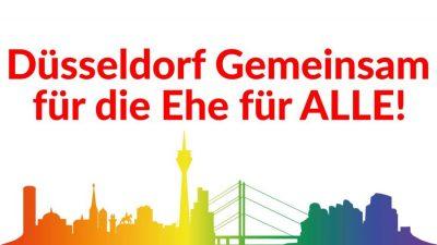 Düsseldorf für die Ehe für ALLE