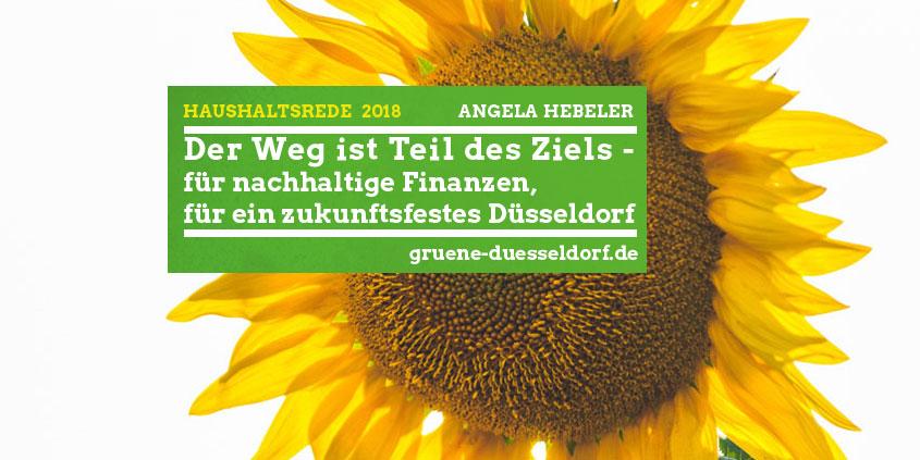 Haushaltsrede 2018 Fraktionssprecherin Angela Hebeler