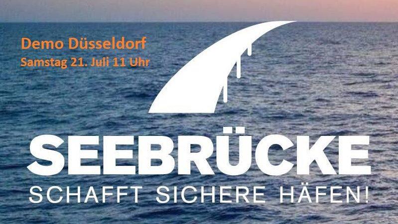 Seebrücke Demo Düsseldorf 21. Juli