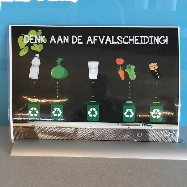 Schild zur Mülltrennung