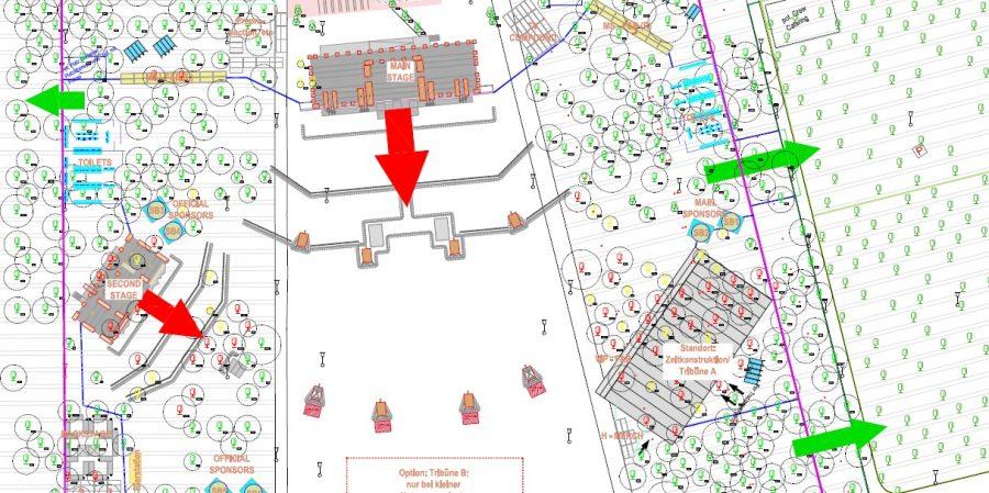Openair-Fläche: weniger Baumfällungen, mehr Neupflanzungen
