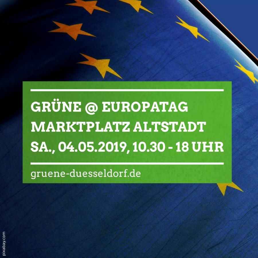 GRÜNE @ Düsseldorfer Europatag 2019: Ein Fest für mehr Europa – mit Sven Giegold