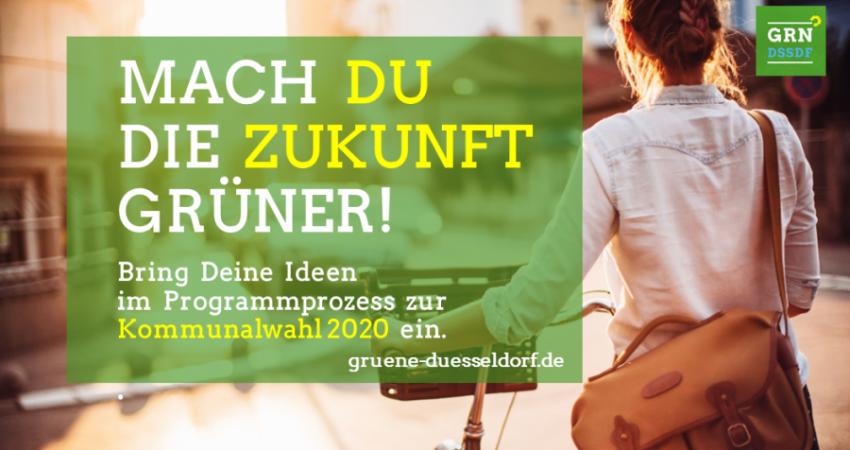 Einladung Mach Du die Zukunft Grüner - Frau mit Fahrrad