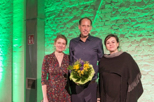 Mirja Cordes, OB-Kandidat Stefan Engstfeld, Paula Elsholz: Grüne Düsseldorf MV 21.01.2020 Foto: Dominic Heidl