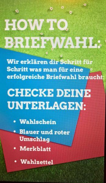 GRÜNE Briefwahl Düsseldorf