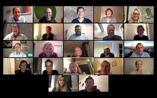 Screenshot aus dem digitalen Auftakt der Kooperationsgespräche