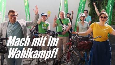 Grüne Radtour: Mach mit im Wahlkampf!